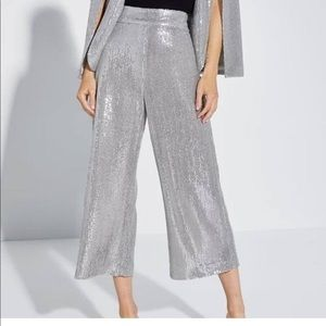 Zara sequins silver pants. New with tags.